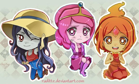 Adventure Time Ladies by Radittz