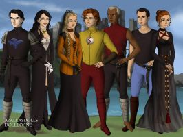 Young Justice Game of Thrones style by MariaTroyT