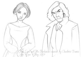 Jane Eyre and Edward Rochester by coda-leia