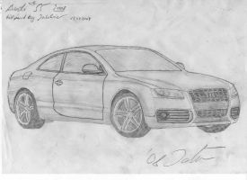 Audi S5 2008 drawing by Jannomag