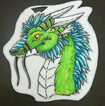 Dragon badge by FoxeeTreasures