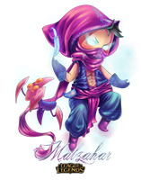 FanArt | Malzahar Chibi | League of Legends by greenmaggot-designs