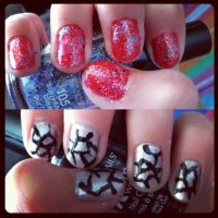 Glitterati and M1D1 Nails by originofemilie