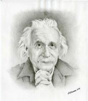 Albert Einstein by AgaO