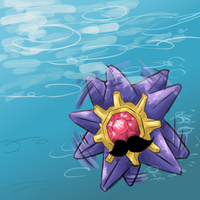 Moustache Starmie [Charity Collaboration] by danny-spikes