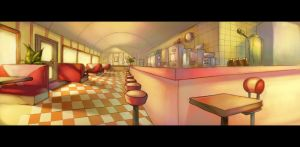Diner Layout Painting 3 by ChanpART