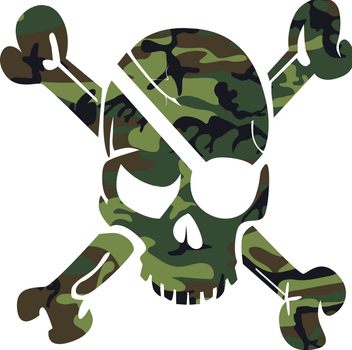 Camouflage Skull Pirate by SeeMyPixels