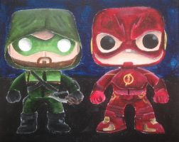 Arrow and Flash Pop!s by billywallwork525
