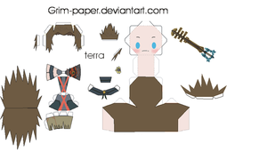 terra papercraft by Grim-paper