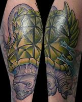 snapping turtle tattoo by michaelbrito