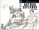 Batman-Superman sketch cover by VinRoc