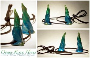 Ocean Kirin Horns by taeliac