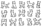 15 Cat linearts by DaisyWarriorCats