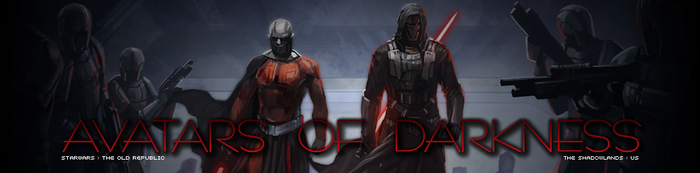 Avatars of Darkness SWTOR Banner by ramblgyrl