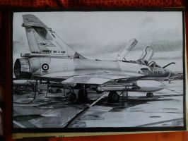 Dassault Mirage 2000-5F drawing by alainmi