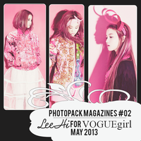 Photopack MZ#02 Lee Hi for VOGUE Girl [May 2013] by Solita-San