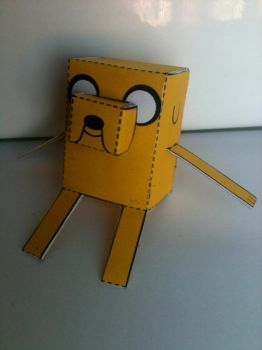 Adventure Time Jake the Dog papercraft 2 by spacemonkeysunited