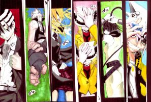 SOUL EATER BOOKMARKS. by guardianleyevermore