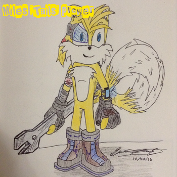 Tails   'Sonic and Rayman' Redesign by santiags101