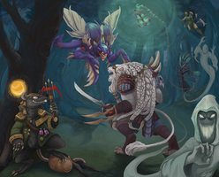 Skirmish (LoL Digi-Art Throwdown Contest) by Liliroo