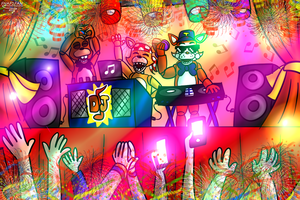 DJ Time by FNaF2FAN