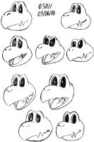 Dry Bones Facial Expressions by silverhammerbro
