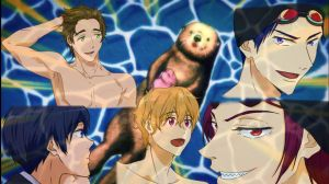 Free! Eternal Summer Ep02 - Best Expressions by Khurulli-x