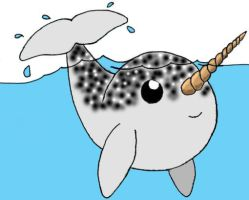 Cute Narwhal by micro-pup