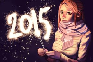 Happy New Year! 2K15 by Andreanable