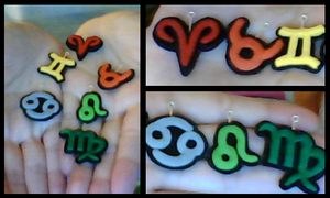 Homemade Homestuck Lowblood Charms by CrystalHeart1212