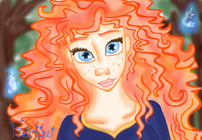 Merida and the whisps by Astirea