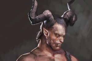 horned man by Rheann
