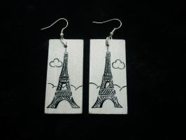 Eiffel Tower Earrings by faktoria-f