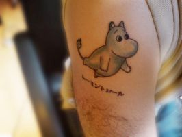 3rd Moomin Tattoo by Kiwikku