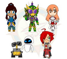Assorted Chibis - Bots, Benders and Breakers by Dragon-FangX
