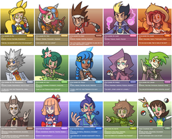 Fakeo Region Gym Leaders (+Elite Four + Champion) by The-Knick