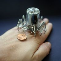 Vacuum Spider No 6 (hand for scale) by AMechanicalMind