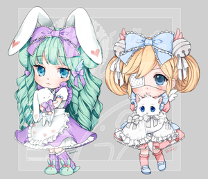 [Commission] cutesu -Chibis by Teirads