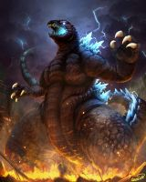 Godzilla 2001 version by narutakiyu