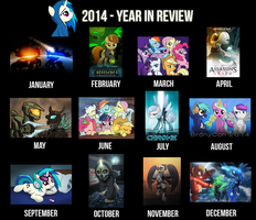 Year in review 2014 by drawponies