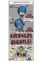 Cooking with the Avengers page 1 of 6 by Sushiboiiiyy