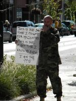 Protesting Vet by D905