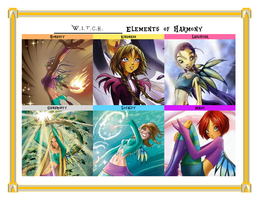 W.i.t.c.h. Elements of Harmony Meme by SEGASister
