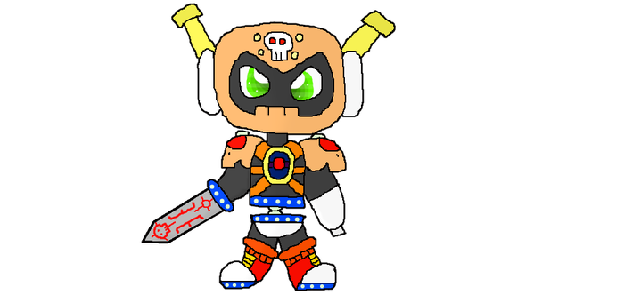 Skull Man and Sword Man fusion by Kittygames50