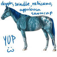 Blue Horse Adoptable by i3nici