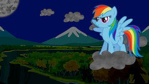 Rainbow Dash Wallpaper - Above Ghastly Gorge by Game-BeatX14