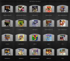 N64 Cartridge icons 3 by fungeye