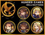 Hunger games buttons by jinyjin