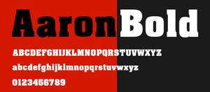 AaronBold Free Font Download by Designslots