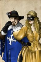 d'Artagnan and Milady by Tatter-Hood